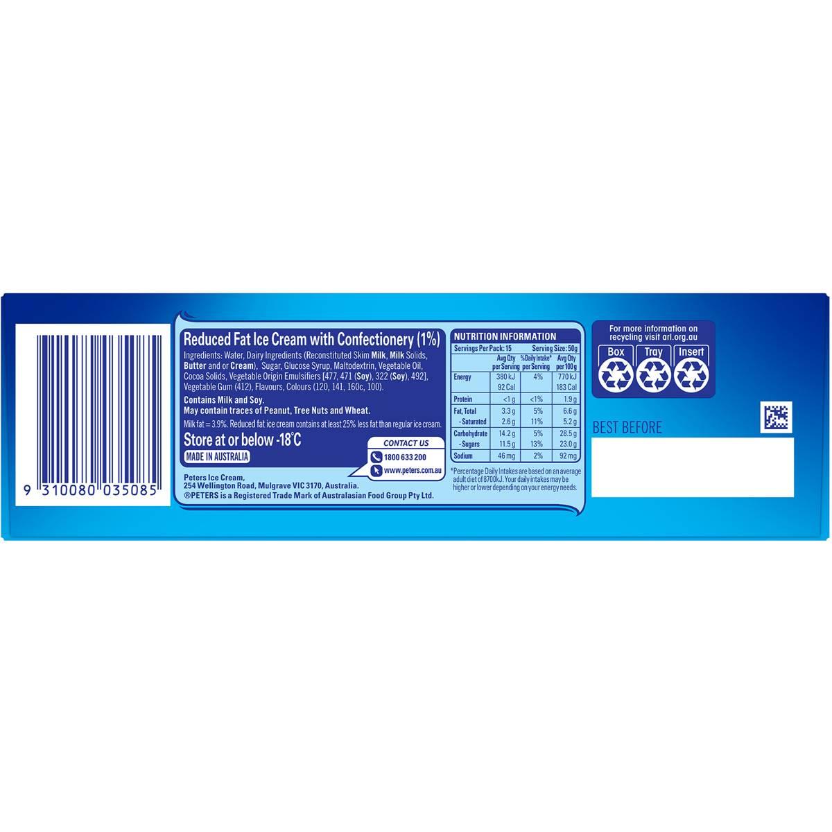 Peters Ice Cream Cake Ingredients