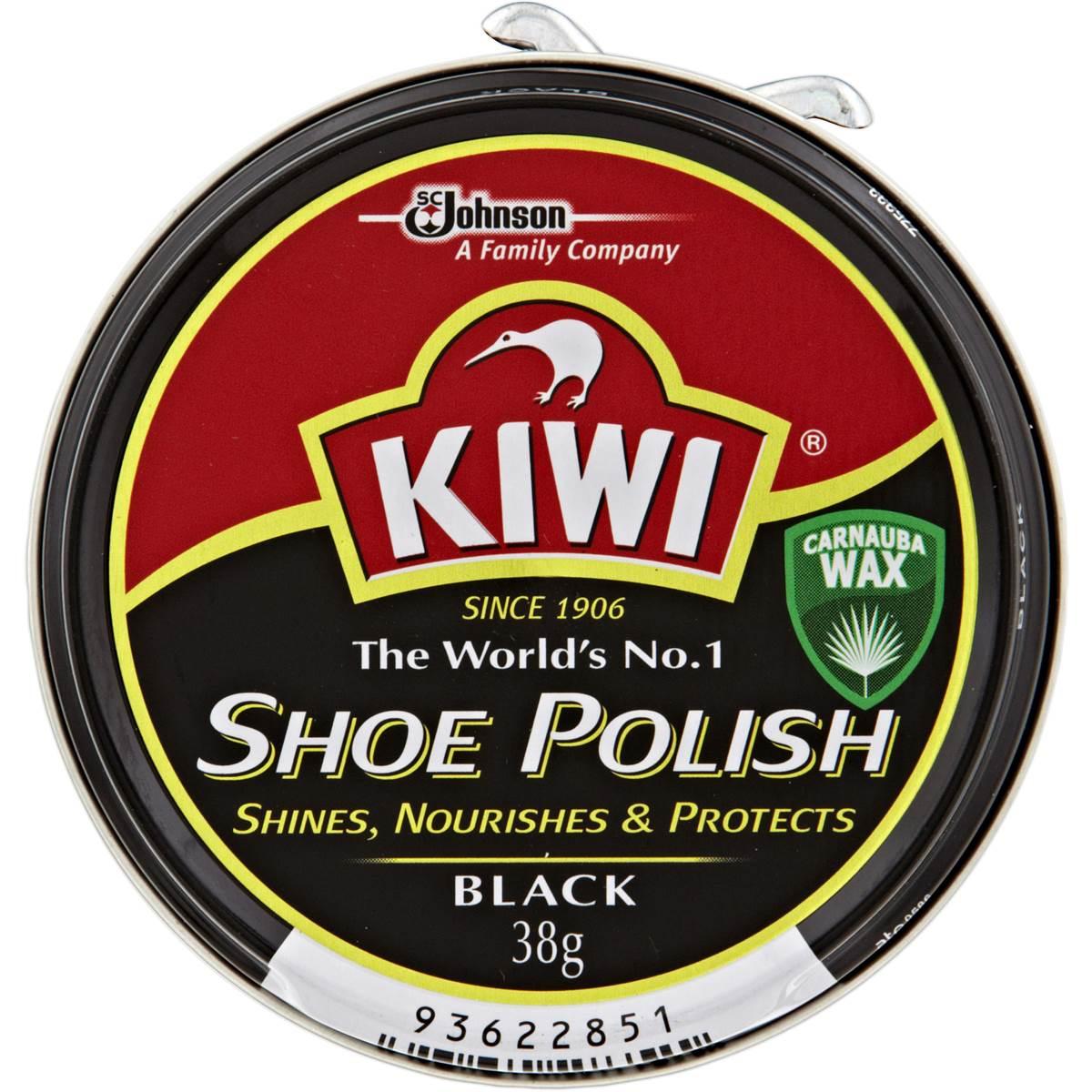 Kiwi Shoe Care Polish Black 38g | Woolworths