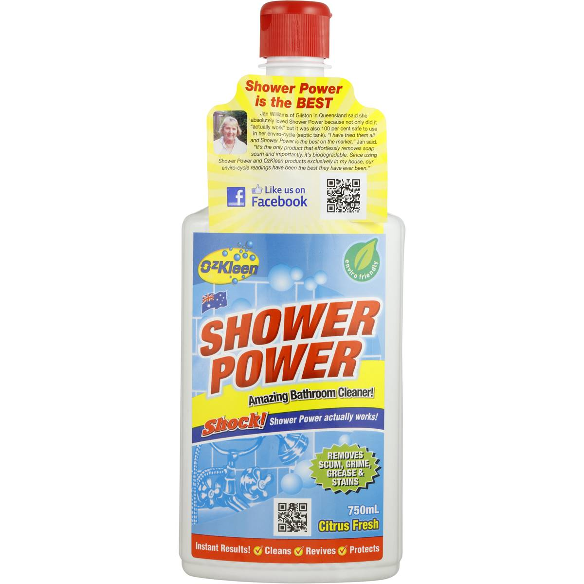 Shower Power Bathroom Cleaner My Web Value