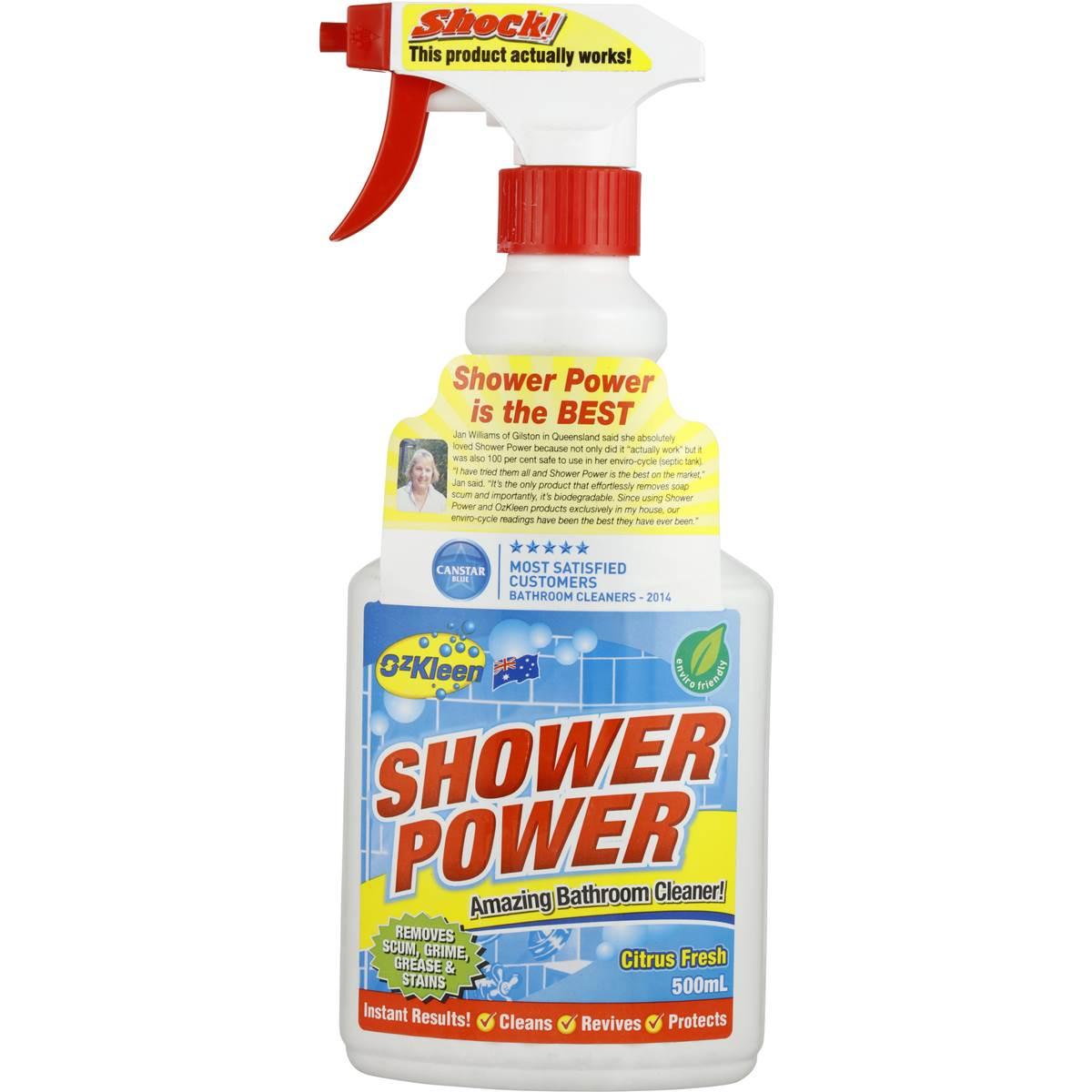 Ozkleen Shower Power Shower Cleaner Trigger 500ml Woolworths