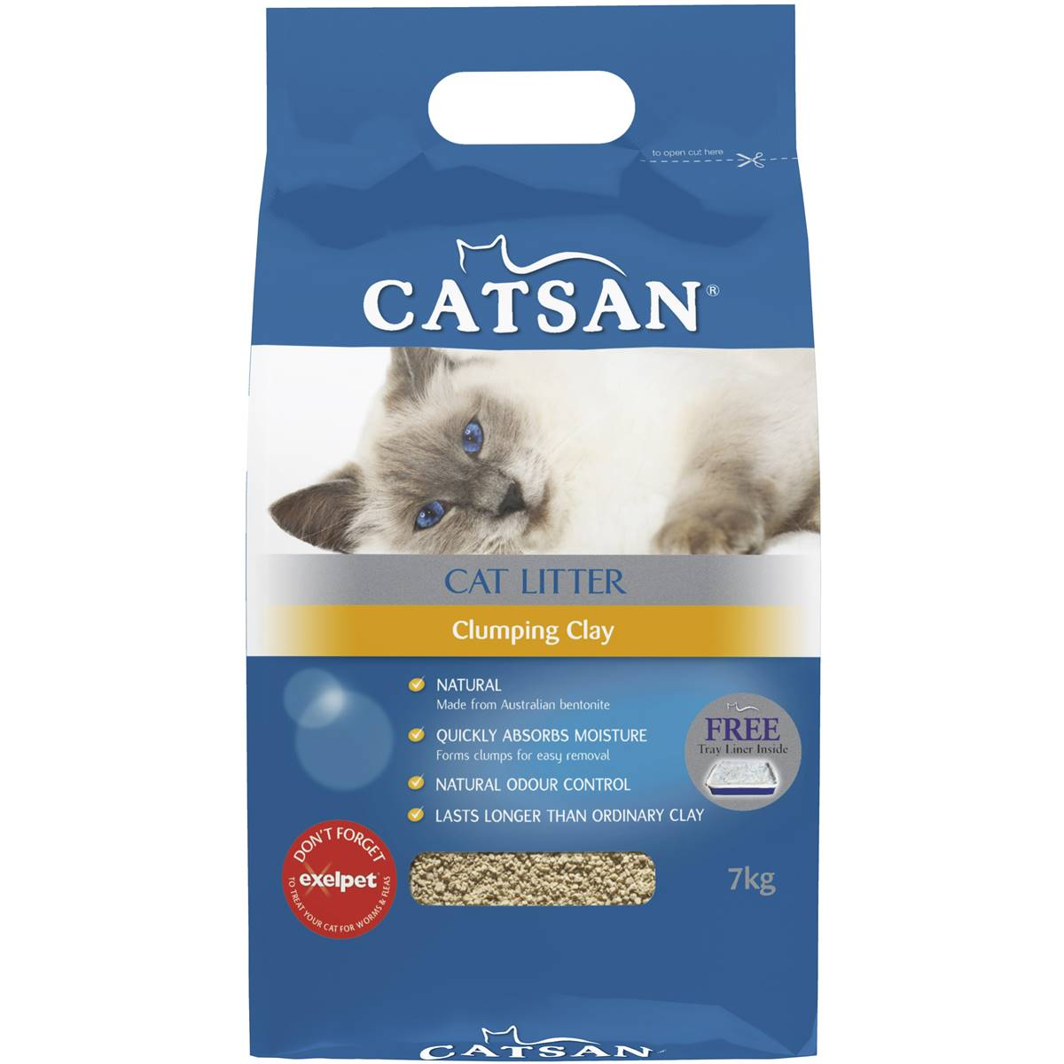 Clay cat litter non clumping