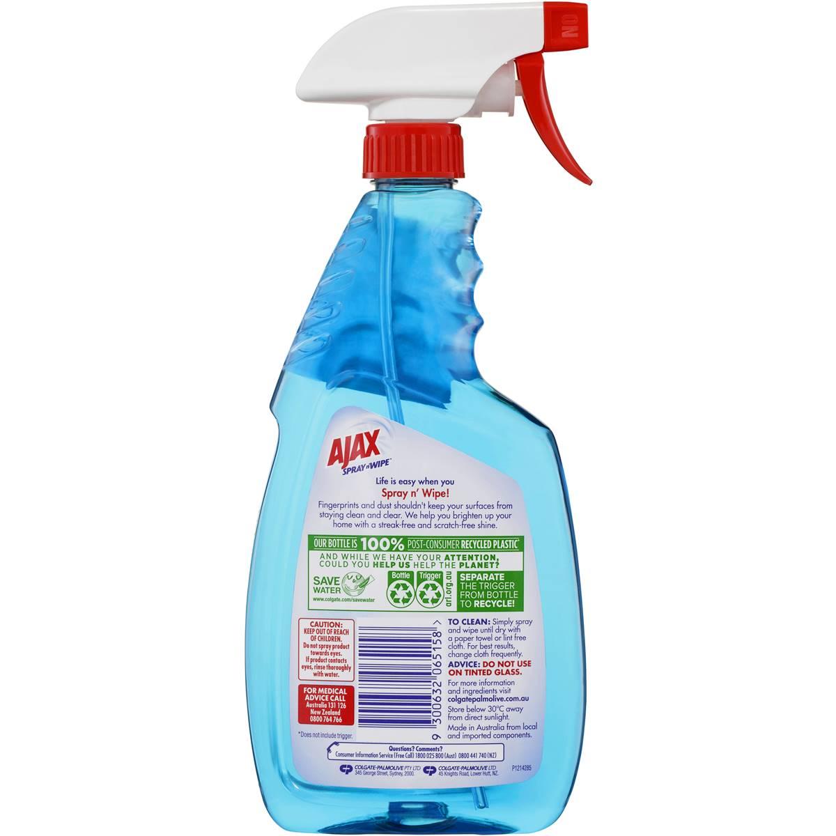Ajax Spray N Wipe Glass Cleaner Trigger   Woolworths