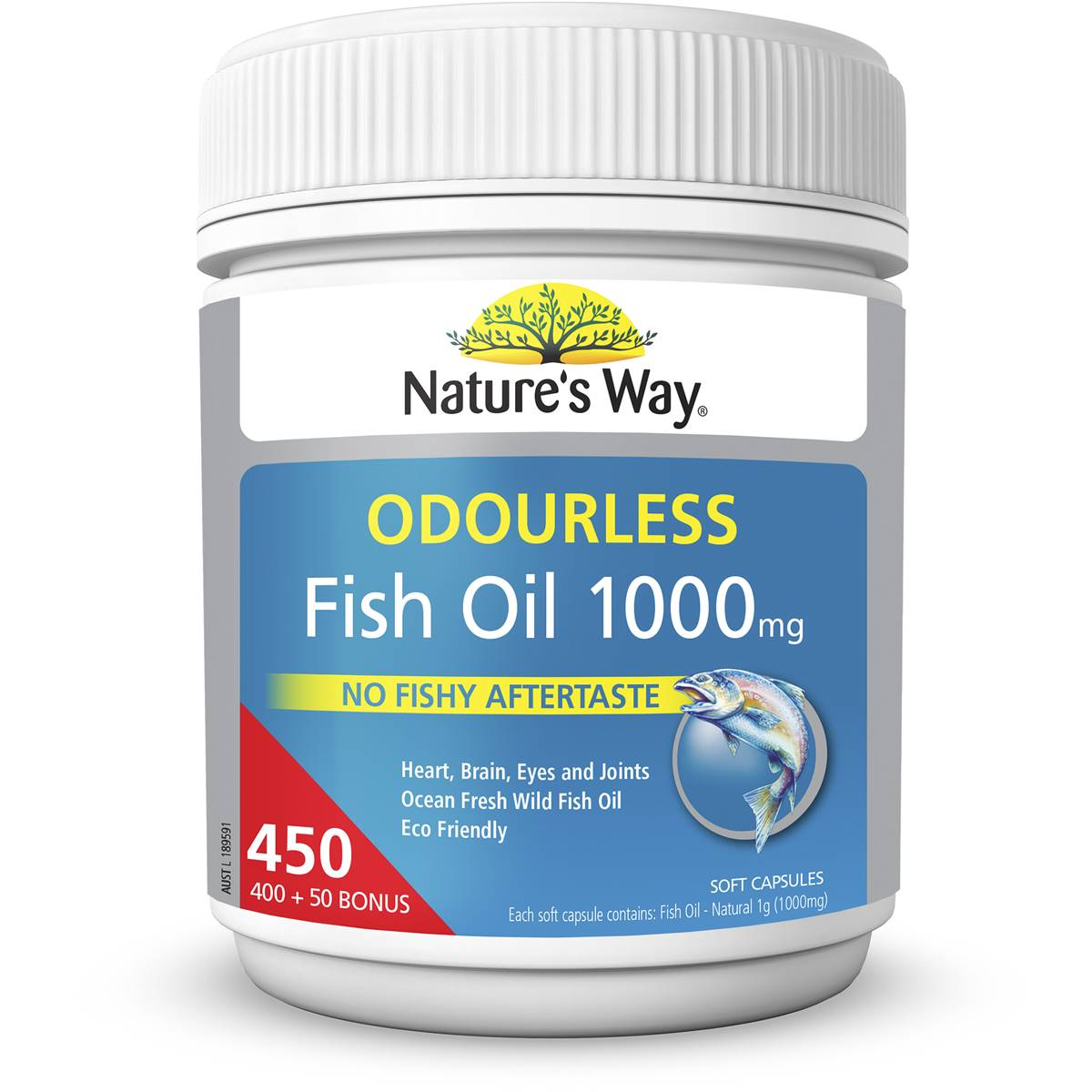 Nature 39 s way fish oil 1000mg 400pk woolworths for Fish oil is good for