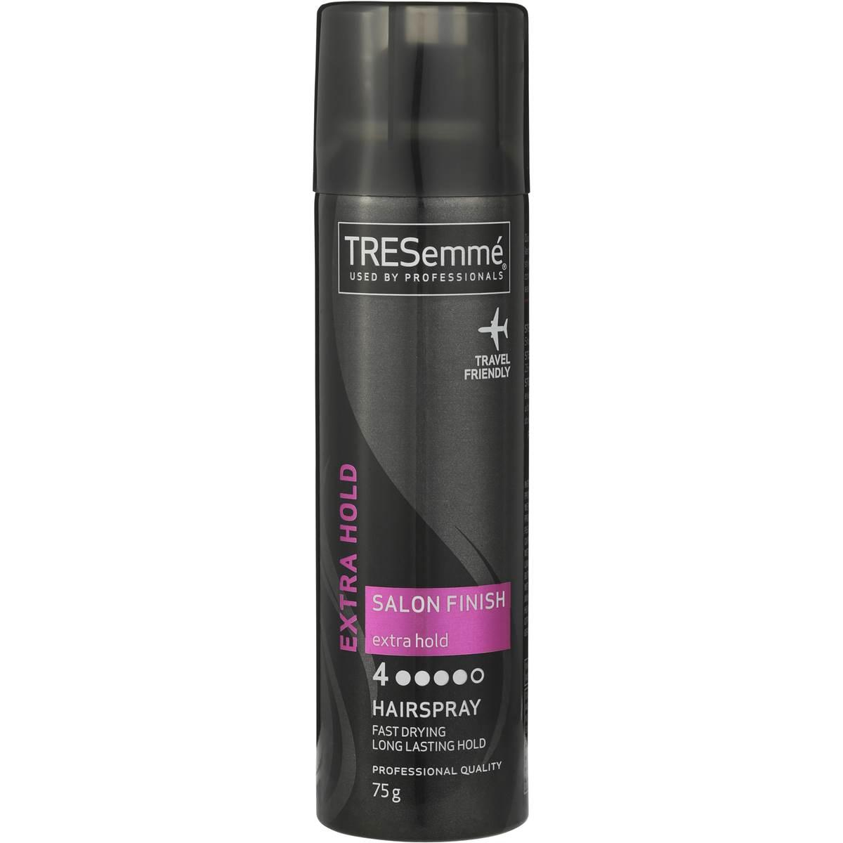 tresemme hair spray extra hold 75g woolworths