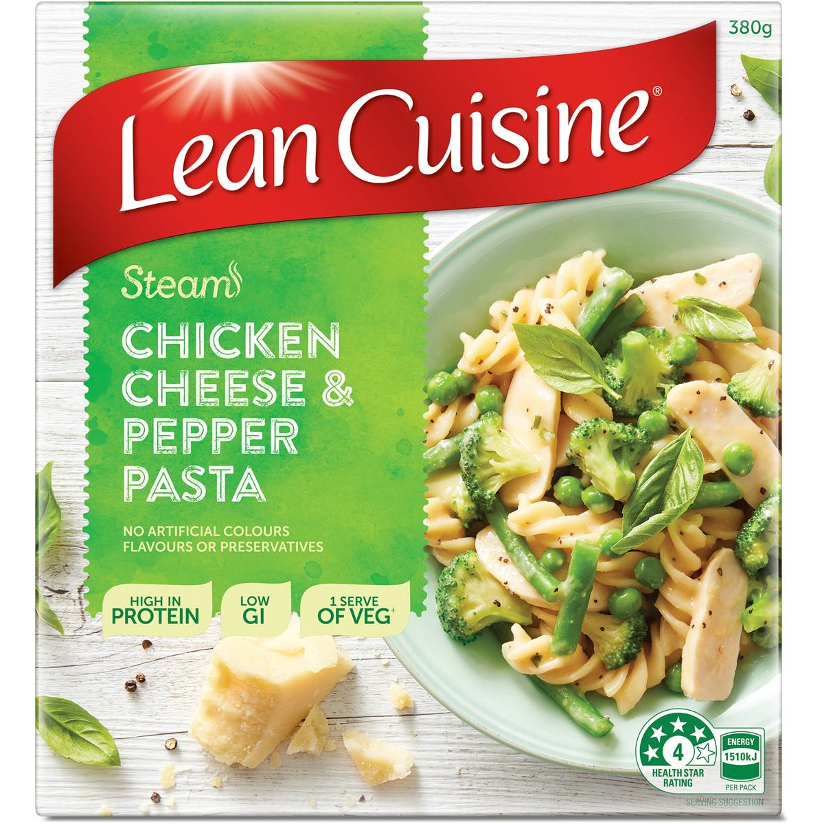 Woolworths lean cuisine steam chicken cheese c pepper for Average price of lean cuisine