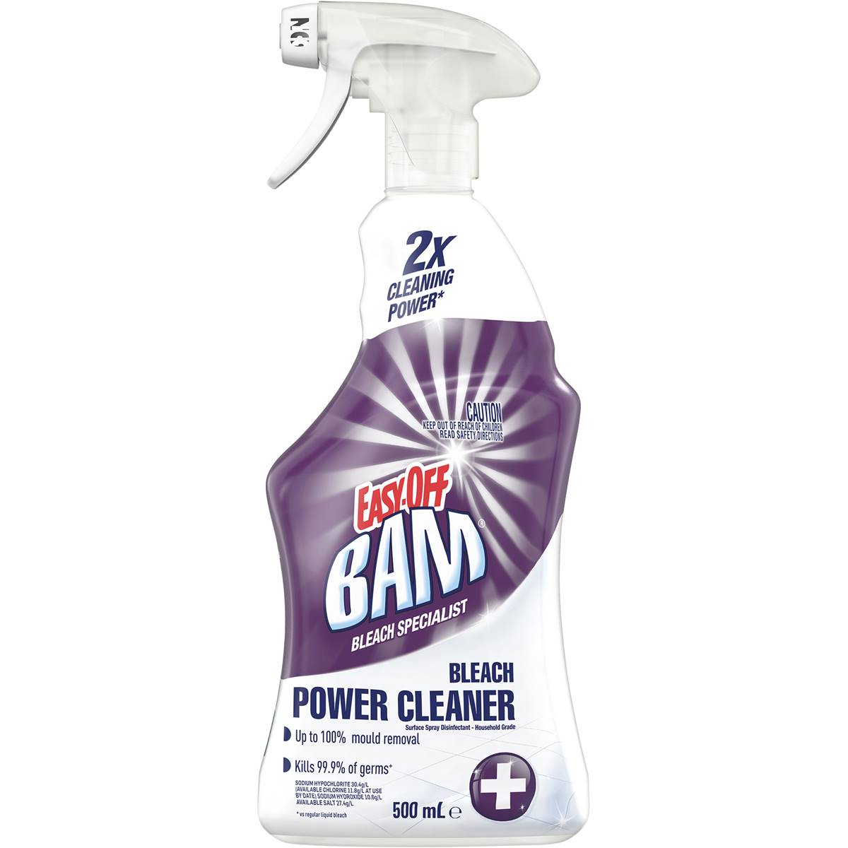 Easy Off Bam Bathroom Cleaner With Bleach 500ml Woolworths