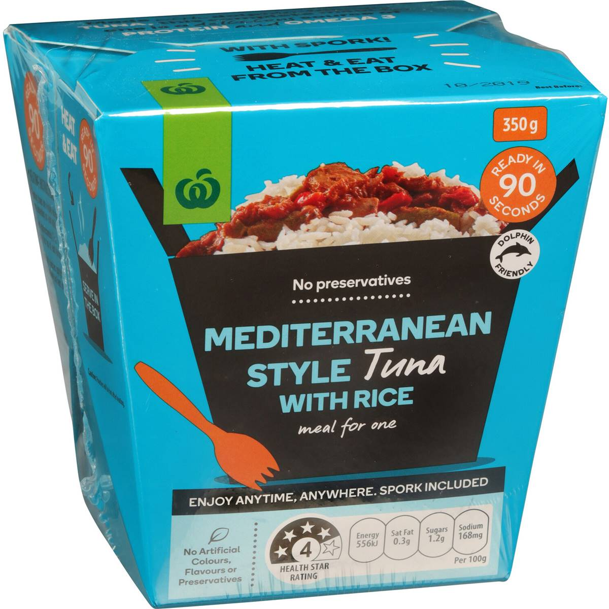 Woolworths Tuna With Rice Mediterranean Style