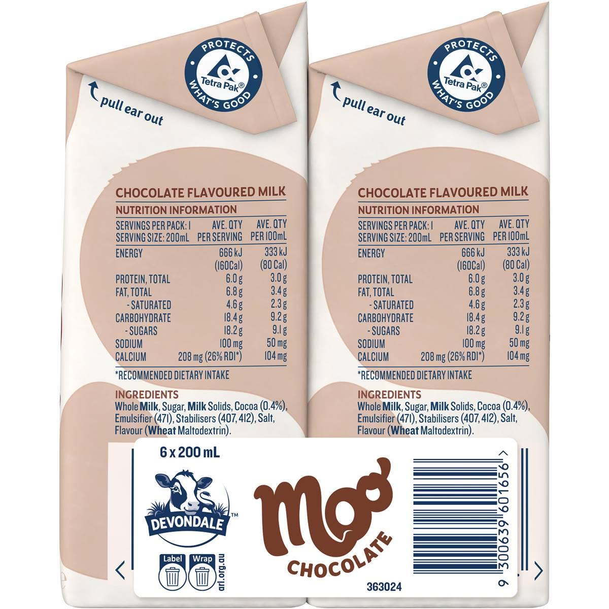 Devondale Chocolate Milk Nutrition