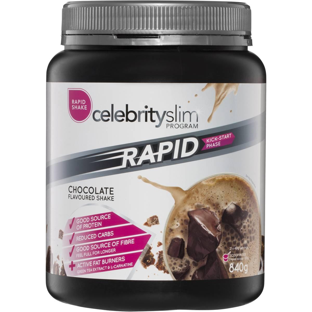 Celebrity slim rapid phase shake mix