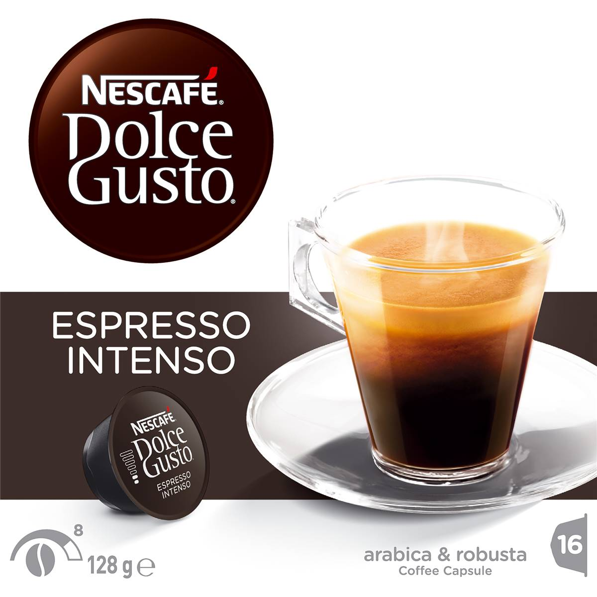 nescafe dolce gusto coffee capsules espresso intenso 16pk. Black Bedroom Furniture Sets. Home Design Ideas