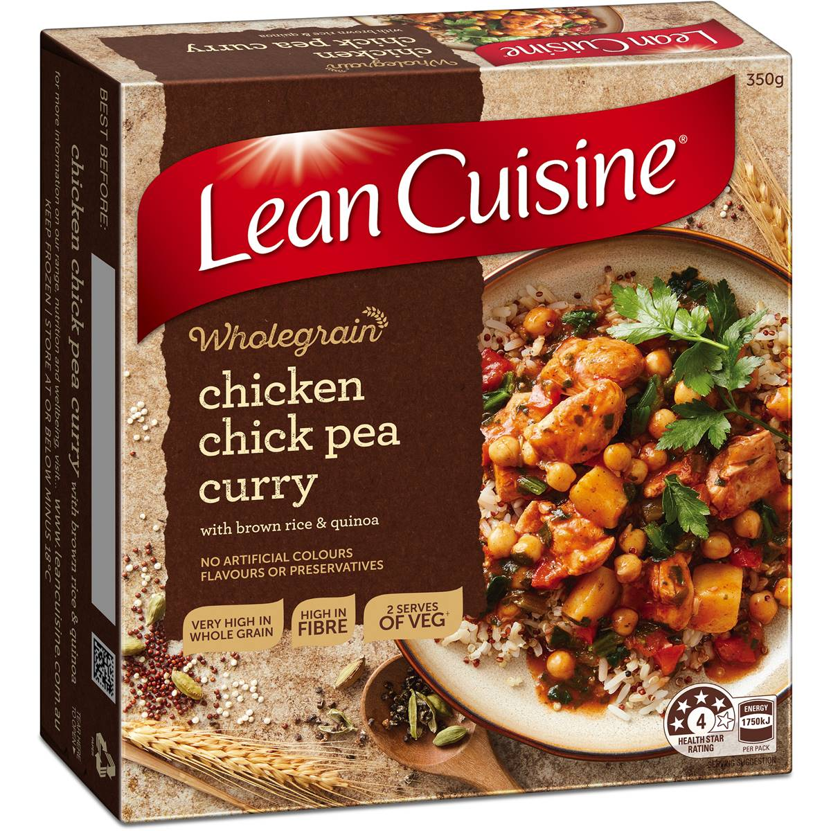 Woolworths lean cuisine steam chicken curry compare club for Average price of lean cuisine
